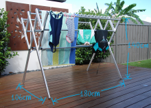 Flexi dimensions - portable clothes airer